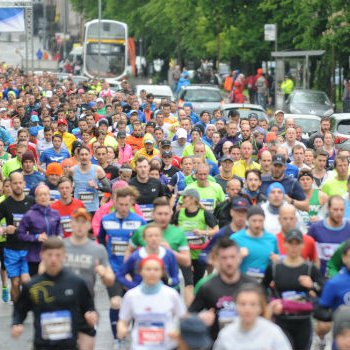Runners at Blood Cancer UK Edinburgh Marathon Festival