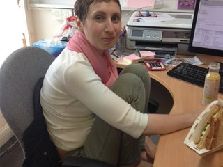 Louise M back at work after treatment for Hodgkin lymphoma