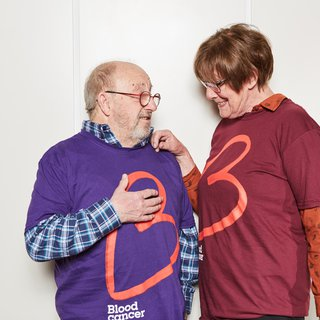 People in Blood Cancer UK t-shirts