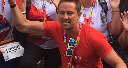 Simon Thomas at a Blood Cancer UK event