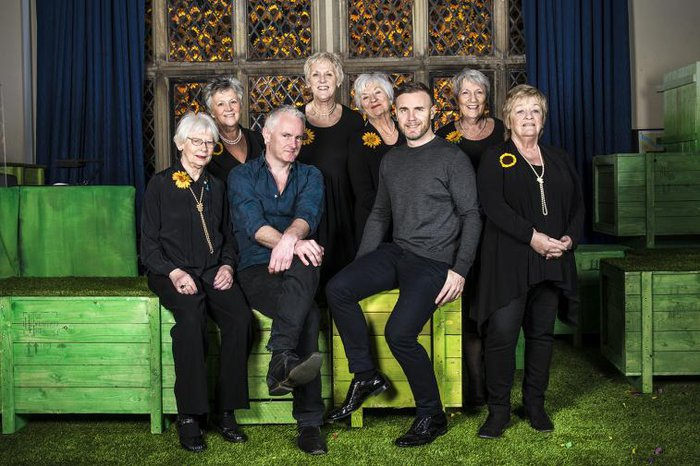 Tim Firth, Gary Barlow & the original Calendar Girls