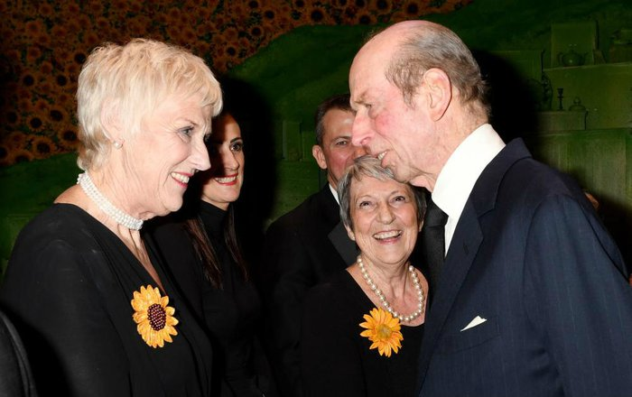 Tricia meets HRH The Duke of Kent, Bloodwise Royal Patron