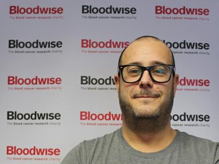 Mat Davis talks more about how he is helping Bloodwise. Bloodwise back drop behind Mat.