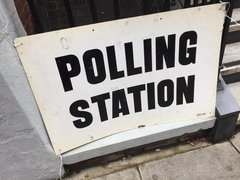 A image of polling station notice