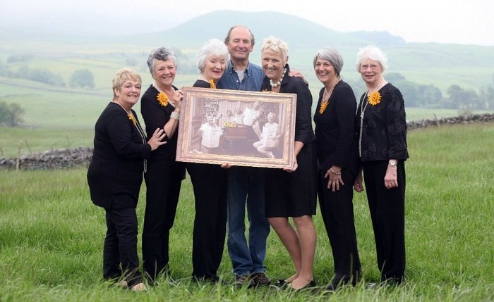 The Calendar Girls pose in Yorkshire