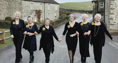 The Calendar Girls in Yorkshire.