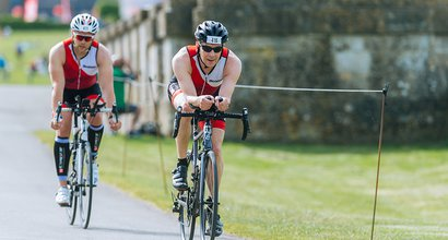 man cycling triathlon