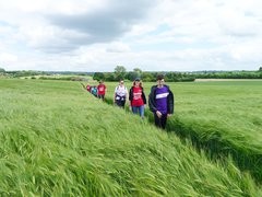 Bloodwise walkers trek across worcestershire countryside for blood cancer research charity